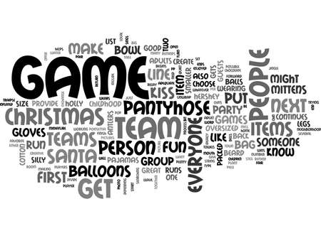 ADULT CHRISTMAS GAMES TEXT WORD CLOUD CONCEPT