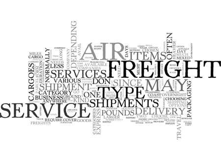 AIR FREIGHT SERVICES TEXT WORD CLOUD CONCEPT 向量圖像