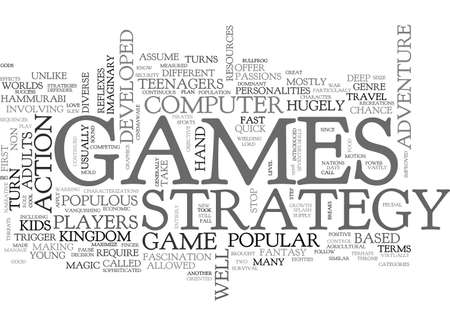 hugely: ADULTS LOVE STRATEGY GAMES TEXT WORD CLOUD CONCEPT