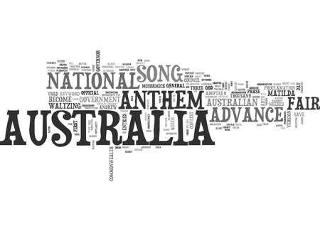 ADVANCE AUSTRALIA FAIR TEXT WORD CLOUD CONCEPT Illustration
