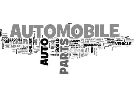 ADVANCE AUTO PARTS FOR YOUR VEHICLES TEXT WORD CLOUD CONCEPT