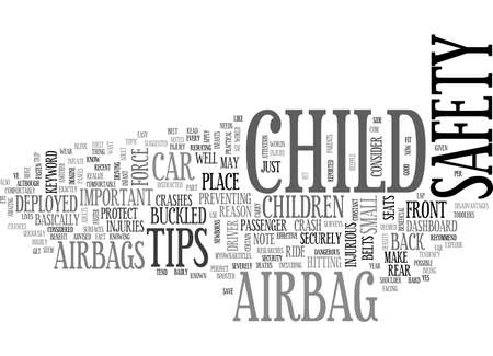 airbag: AIRBAG CHILD SAFETY TEXT WORD CLOUD CONCEPT
