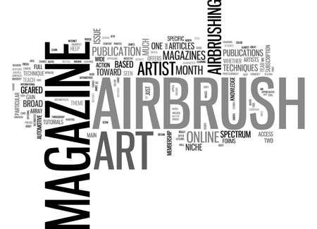 AIRBRUSH ART MAGAZINES TEXT WORD CLOUD CONCEPT Çizim