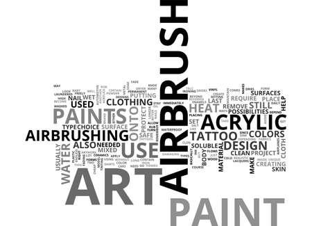 depend: AIRBRUSH ART PAINTS TEXT WORD CLOUD CONCEPT Illustration