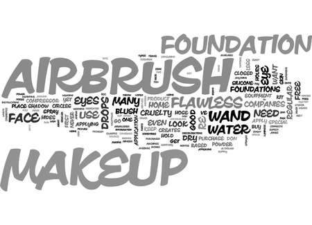 AIRBRUSH MAKEUP TEXT WORD CLOUD CONCEPT