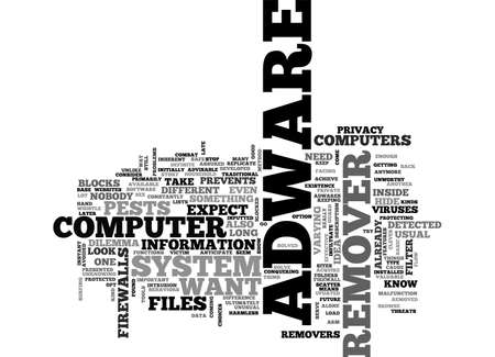 adware: ADWARE REMOVER TEXT WORD CLOUD CONCEPT