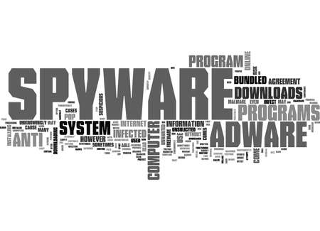 ADWARE SPYWARE DOWNLOAD TEXT WORD CLOUD CONCEPT