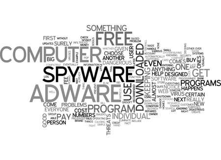 ADWARE SPYWARE FREE TEXT WORD CLOUD CONCEPT