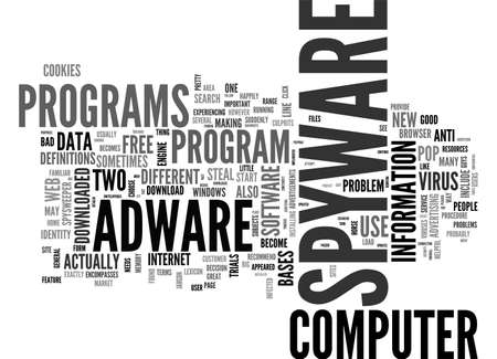 ADWARE SPYWARE TEXT WORD CLOUD CONCEPT