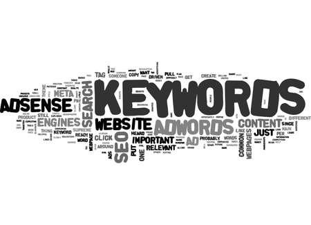 ADWORDS ADSENSE SEO COMMON DENOMINATOR KEYWORDS TEXT WORD CLOUD CONCEPT