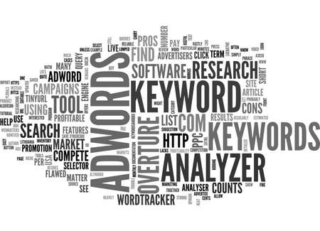 ADWORDS ANALYZER REVIEW PROS AND CONS TEXT WORD CLOUD CONCEPT