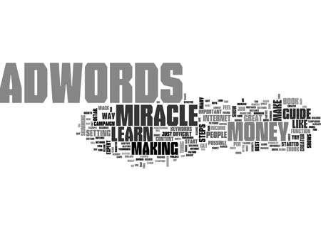 ADWORDS MIRACLE TEXT WORD CLOUD CONCEPT