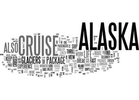 ALASKA CRUISE TEXT WORD CLOUD CONCEPT