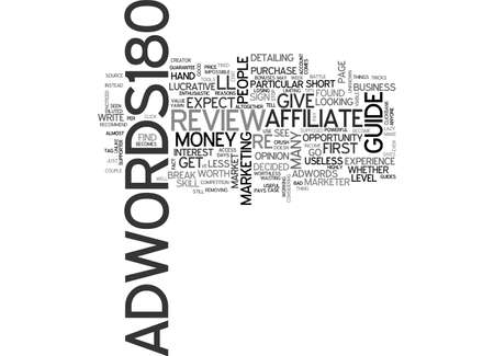 adwords: ADWORDS REVIEW GOOD OR BAD TEXT WORD CLOUD CONCEPT Illustration