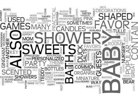 BABY SHOWER FAVORS TEXT WORD CLOUD CONCEPT