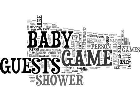 ベビー シャワーのゲームのアイデア テキスト単語クラウド概念  イラスト・ベクター素材