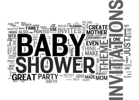 BABY SHOWER NODIGT TEKST WORD CLOUD CONCEPT UIT
