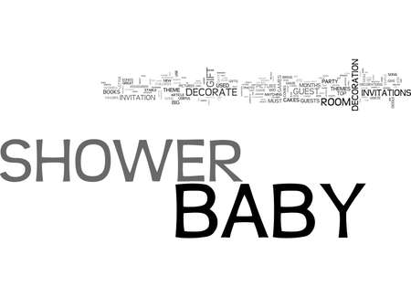 BABY SHOWER NOVEL WAY OF ARRANGEMENT TEXT WORD CLOUD CONCEPT