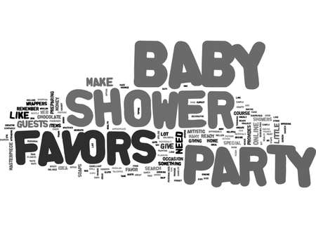 BABY SHOWER PARTY FAVOR TEXT WORD CLOUD CONCEPT