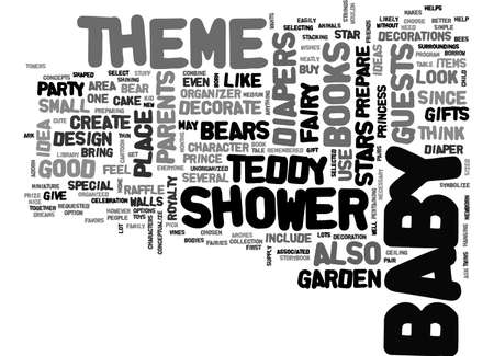 BABY SHOWER THEME TEXT WORD CLOUD CONCEPT Illustration
