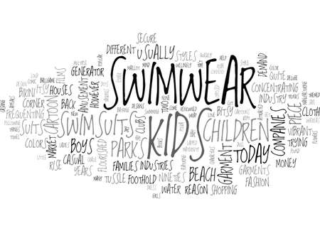 BABY SWIMSUITS TEXT WORD CLOUD CONCEPT