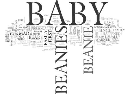 BABYBEANIE TEXT WORD CLOUD CONCEPT Illustration