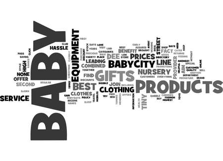 premature: BABYCITY BABY CLOTHES AND BABY GIFTS ONLINE TEXT WORD CLOUD CONCEPT Illustration