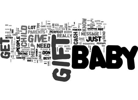 gist: BABYGIFTS TEXT WORD CLOUD CONCEPT