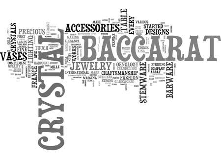 BACCARAT CRYSTAL TEXT WORD CLOUD CONCEPT