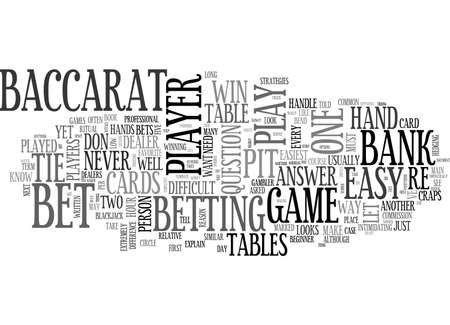 BACCARAT MADE EASY TEXT WORD CLOUD CONCEPT Иллюстрация
