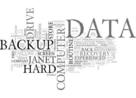 BACK UP YOUR DATA OR SUFFER THE CONSEQUENCES TEXT WORD CLOUD CONCEPT Ilustração