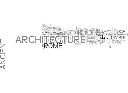 ANCIENT POMPEII TEXT WORD CLOUD CONCEPT Ilustrace
