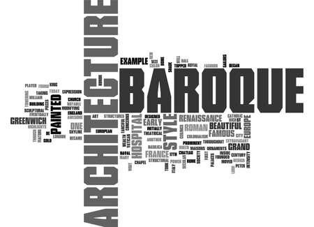 BAROQUE ARCHITECTURE TEXT WORD CLOUD CONCEPT