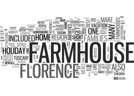A FARMHOUSE HOLIDAY FLORENCE STYLE TEXT WORD CLOUD CONCEPT