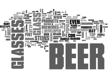 A LOOK BACK AT BEER CONTAINERS TEXT WORD CLOUD CONCEPT