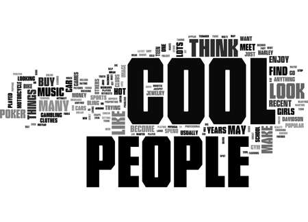 A LOOK INTO COOL TEXT WORD CLOUD CONCEPT Illustration