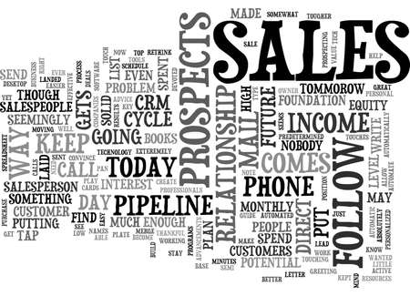 A SALESPERSON S GUIDE TO DIRECT MAIL FOLLOW UP TEXT WORD CLOUD CONCEPT