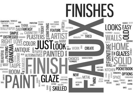 A SAMPLER OF FAUX FINISH TECHNIQUES TEXT WORD CLOUD CONCEPT