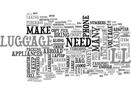 A SEMESTER ABROAD TEXT WORD CLOUD CONCEPT