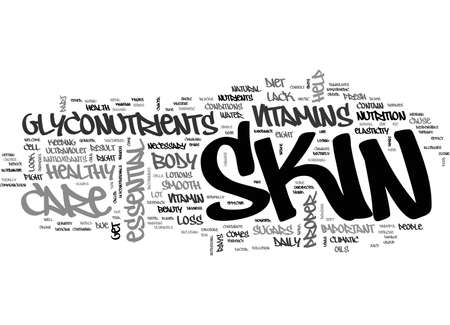 A SHORT CUT TO A SMOOTH AND HEALTHY SKIN TEXT WORD CLOUD CONCEPT