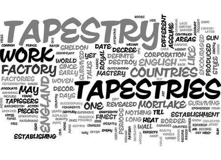A SIGNIFICANT ACCOUNT OF TAPESTRIES TEXT WORD CLOUD CONCEPT Векторная Иллюстрация
