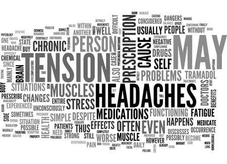 A SIMPLE CASE OF CHRONIC HEADACHES TEXT WORD CLOUD CONCEPT
