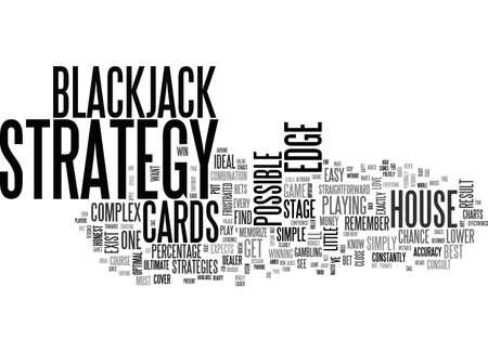 A SIMPLE STAGE BLACKJACK STRATEGY TEXT WORD CLOUD CONCEPT