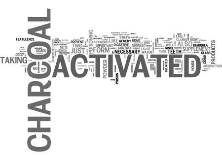ACTIVATED CHARCOAL TEXT WORD CLOUD CONCEPT Illustration