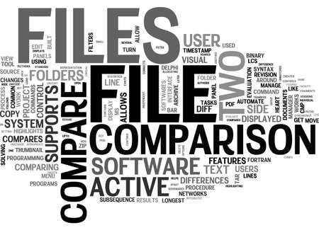 ACTIVE FILE COMPARE WHAT IS IT TEXT WORD CLOUD CONCEPT