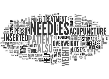 ACUPUNCTURE AND WEIGHT LOSS TEXT WORD CLOUD CONCEPT