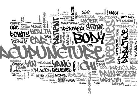 ACUPUNCTURE CLOSELY REVEALED TEXT WORD CLOUD CONCEPT