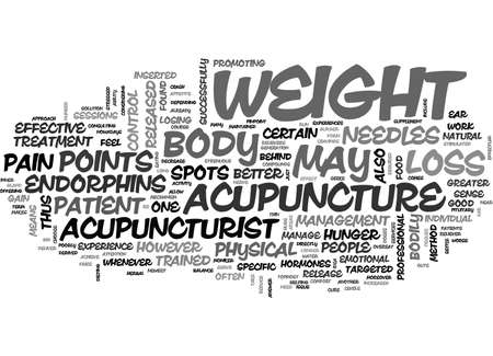 ACUPUNCTURE FOR EFFECTIVE WEIGHT LOSS TEXT WORD CLOUD CONCEPT Illustration