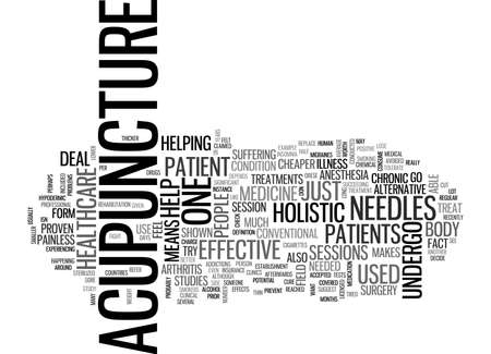ACUPUNCTURE IS AN EXAMPLE OF HOLISTIC HEALTHCARE TEXT WORD CLOUD CONCEPT