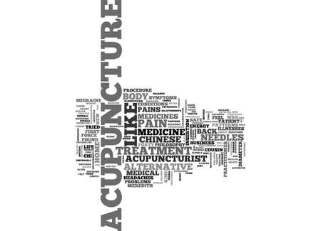 ACUPUNCTURE THE ALTERNATIVE MEDICINE FROM THE ORIENT TEXT WORD CLOUD CONCEPT Illustration